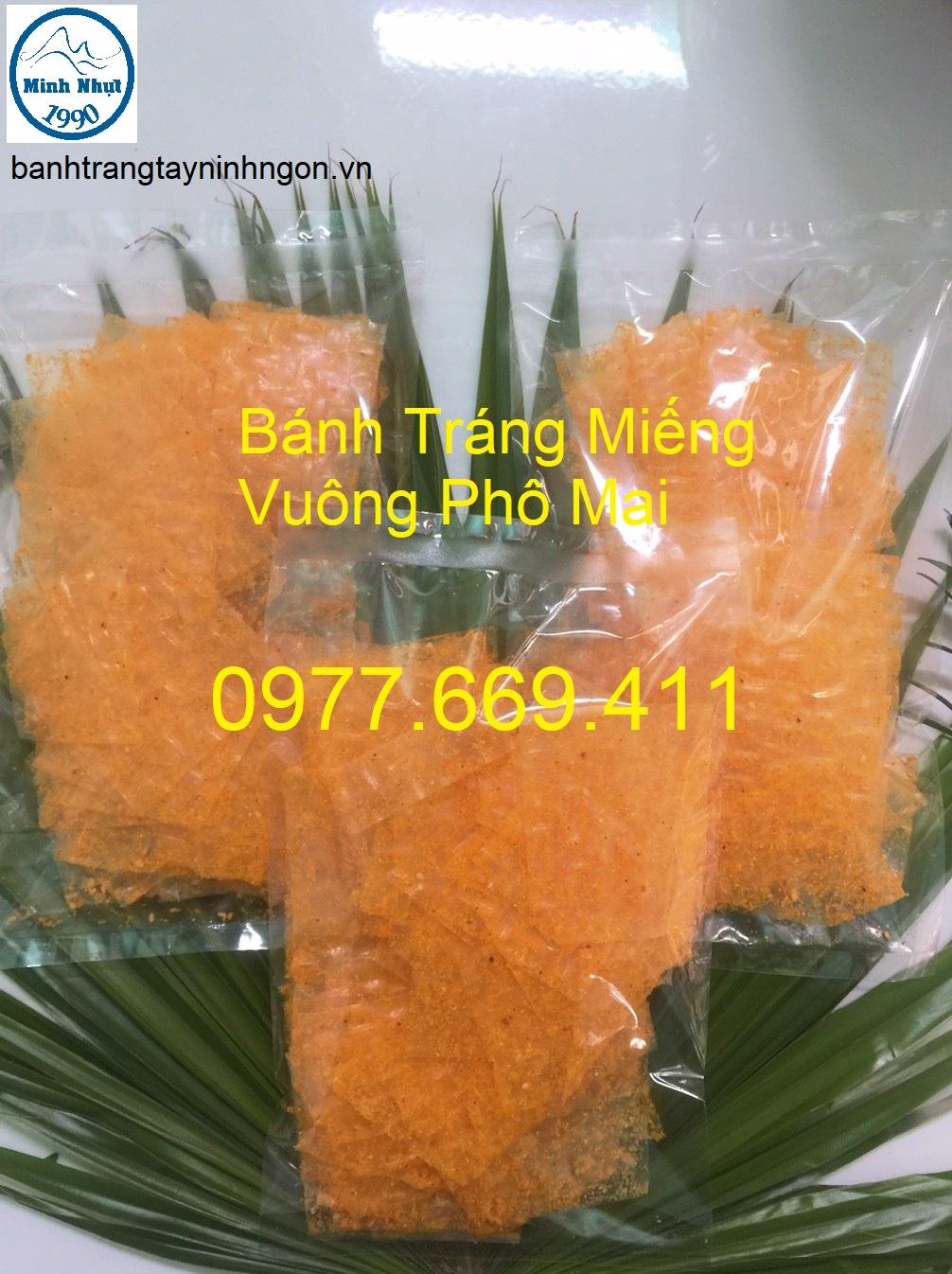 Bánh Tráng Miếng Vuông Phô Mai